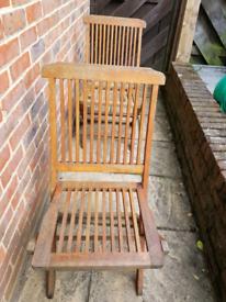 2 x Wooden Garden Chairs