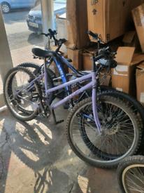 Mountain bike working & free lock