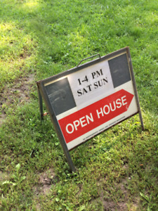 5 REAL ESTATE A-Frame  OPEN House Sign Stands