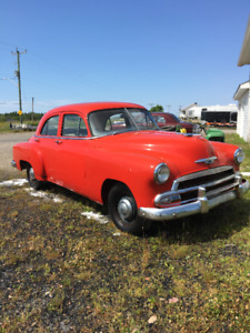 51 chev 4 dr sedan styline