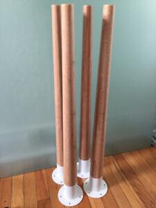 4 pattes de table en bamboo IKEA Hilver bamboo table legs