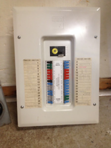100A Electrical Entrance Panel with Breakers