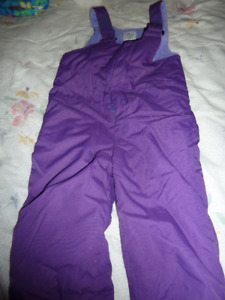 Purple overall snow pants Size 3