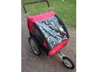 Kids double buggy/bike trailer