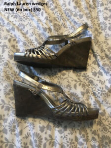 Ralph Lauren wedges BRAND NEW size 9