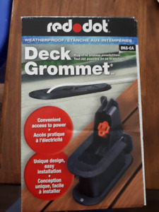Red Dot Deck Grommet for Outdoor Access to Power