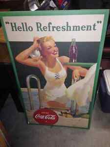 Very nice Coke poster to sell London Ontario image 1