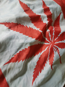 Canadian / cannabis flag