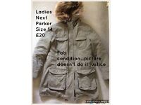Next Ladies Parka Size 14