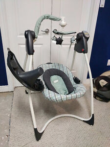 Graco lovin hug plug in swing