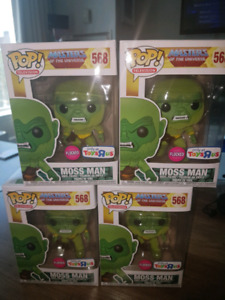 FUNKO POP MASTERS OF THE UNIVERSE MOSS MAN FLOCKED EXCLUSIVE!!