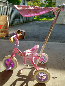 Princess girl's trycicle with canopy