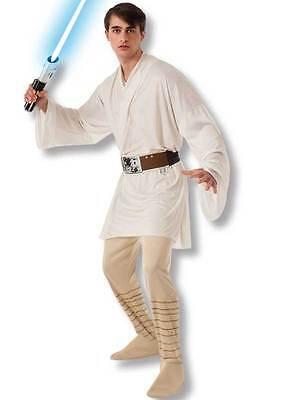 Star Wars Deluxe Luke Skywalker Mens Adult Halloween Fancy Dress Costume Jedi - Luke Skywalker Halloween Costume Adults