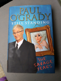 Paul o Grady Standing The Savage Years Hardback book
