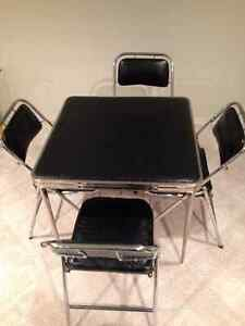 Folding CardTable and Chair Set