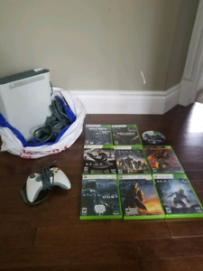 Xbox 360 console, controller & 9 games ALL OFFERS CONSIDERED