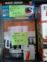 25% off all coffee makers