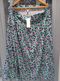 Ladies Summer Skirt Jade mix Marks And Spencer Size 18 NWT