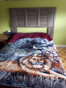 Tête et pied de lit double