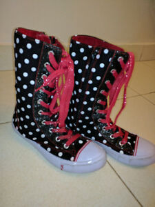 Disney MINNIE MOUSE girls high tops - mint condition