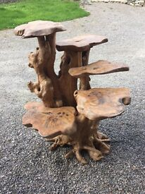 Beautiful natural wood driftwood root display stand not teak