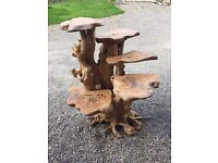 Beautiful natural wood driftwood root display stand not teak