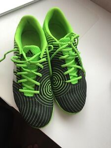 Selling green and black Adidas indoor soccer shoes