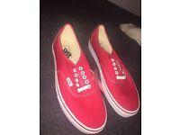 Red vans size 10 US
