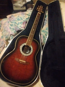 ovation ultra deluxe acoustic for sale with hard shell case