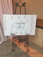 Wedding Seating Charts -Foam  Poster & Custom Picture