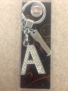 New Crystal Key Chains. Letters A & M
