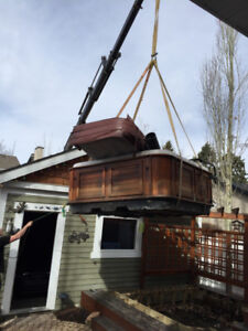 Hot Tub Moves With a Crane
