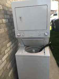 """Frigidaire stack 27"""" washer electric dryer only 1 years old"""