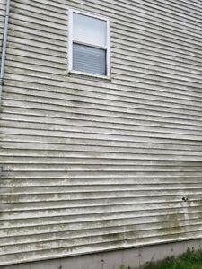 Dirty Eaves Gutters Siding & Decks & Outdoor Heat Pump Cleaning