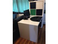 Ikea Expedit 2x4 shelves, desk & chair