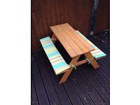 Children's garden bench
