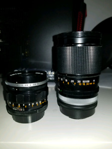 Canon FD lenses 50mm 1.2 and 135mm 2.5