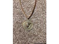 8ct Gold Versace style men's necklace chain medusa