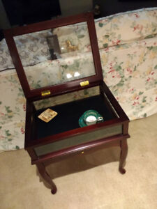 Very Nice Rare Trinket Display Shadow Box Table From the Bombay