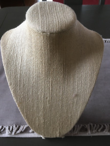 Burlap Necklace Stand or Display Form