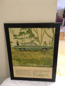 1960s Buick advertising sign 12x16 on placard