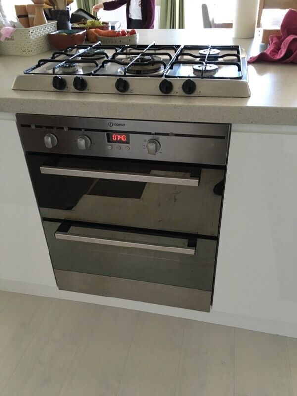 Indesit Integrated Under Counter Double Oven In