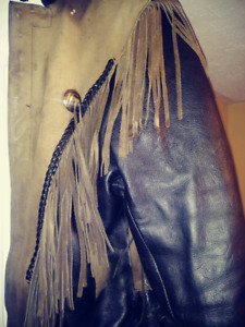 Indian Style Leather Biker Jacket