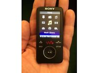 Sony mp4 media player 16 GB with USB lead (no phones).