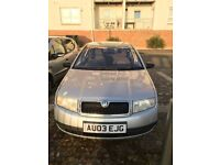 Skoda Fabia 1.4 Silverline 90,000 miles, MOT due 03/17, £1100 ONO for quick sale!