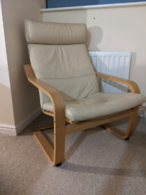 IKEA leather chair cream very good condition