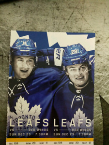 Tickets Toronto Maple Leafs vs Detroit Red Wings Sunday Dec 23