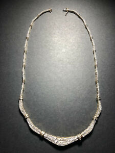 Necklace 14k yellow gold ladies with 306 round dimonds