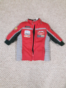 Lightening McQueen Gently used 3T Winter Jacket/Coat