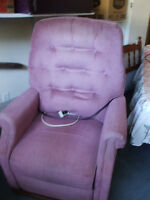 Will reupholster for you Motorized Stand Up Recliner